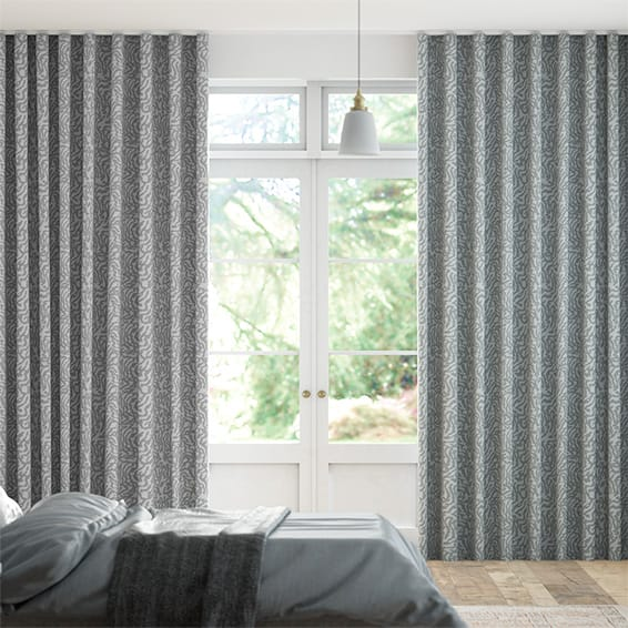 Wave Seduire Charcoal  Curtains