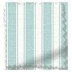 Wave Tiger Stripe Aqua Curtains sample image