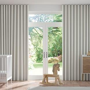 Wave Tiger Stripe Dove Grey Wave Curtains thumbnail image
