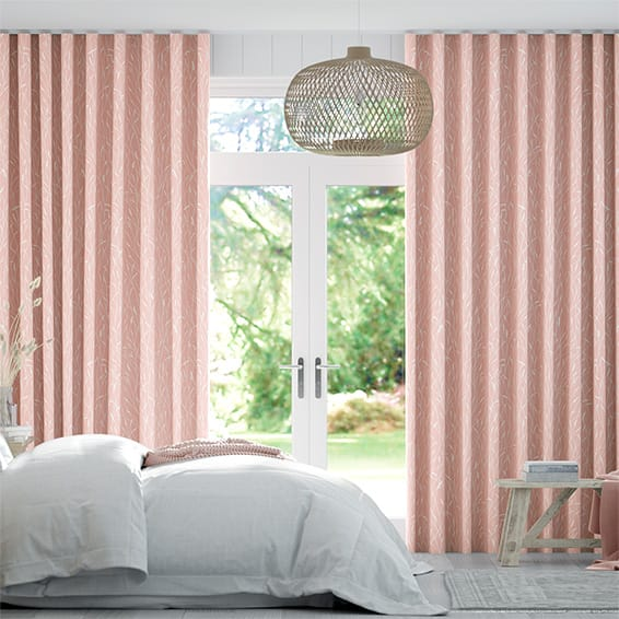 Wave Timothy Grass Blush Curtains