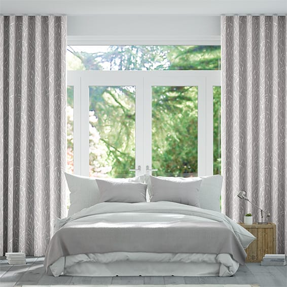 Wave Timothy Grass Dove Curtains