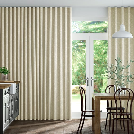 Wave Timothy Grass Natural Curtains