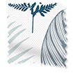 Wave Tropical Leaves Midnight Wave Curtains swatch image