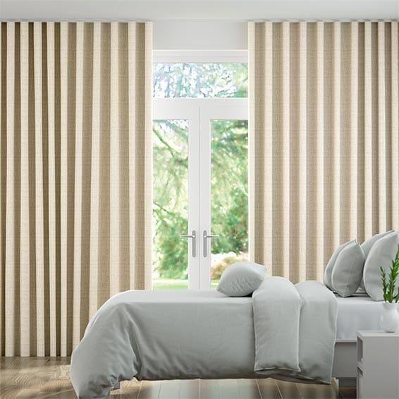 Wave Vanita Golden Barley Curtains