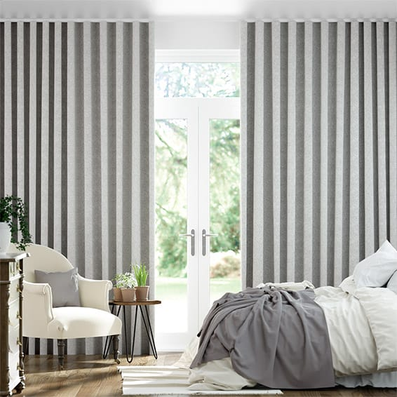 Wave Waycroft Grey Curtains