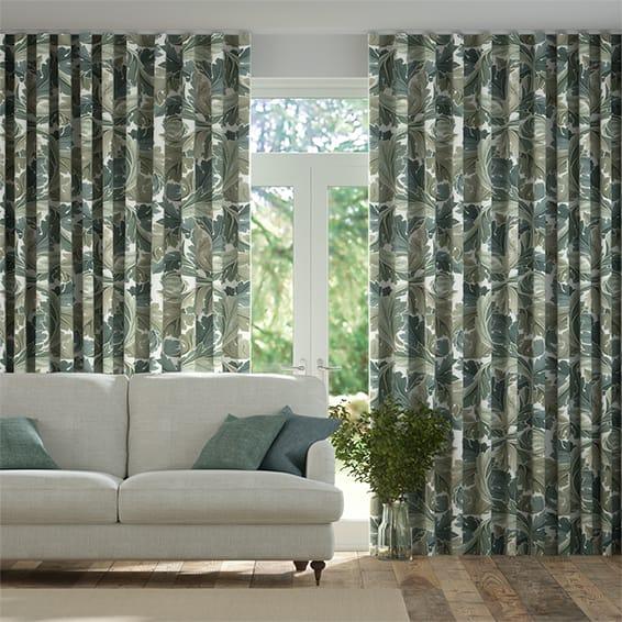 Wave William Morris Acanthus Celadon Curtains