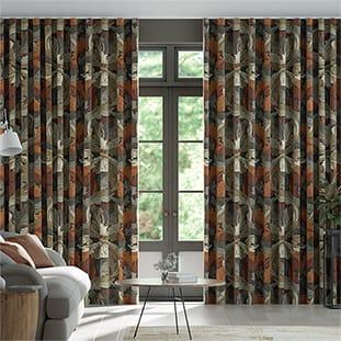 Wave William Morris Acanthus Velvet Chestnut Wave Curtains thumbnail image