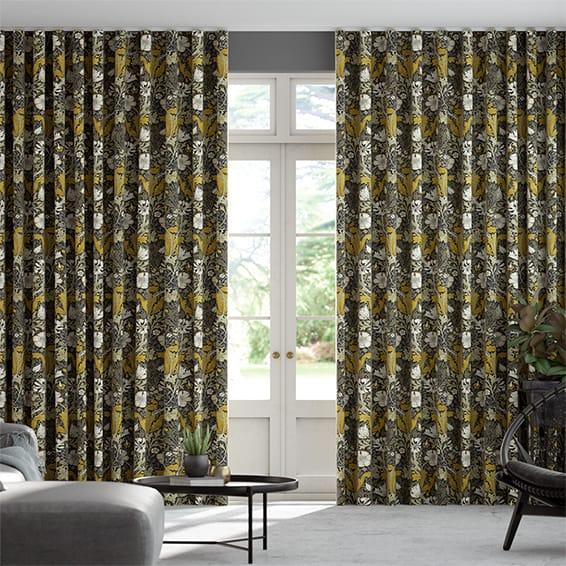 Wave William Morris Compton Amber Curtains