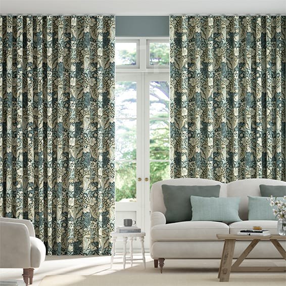 Wave William Morris Compton Midnight Curtains