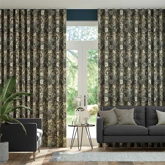Wave William Morris Compton Noir Curtains