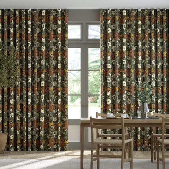 Wave William Morris Compton Velvet Sienna Curtains