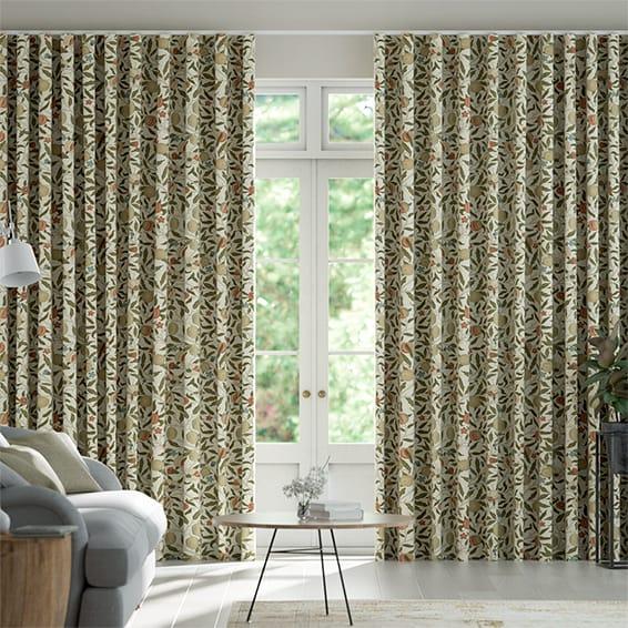 Wave William Morris Fruit Autumn Curtains