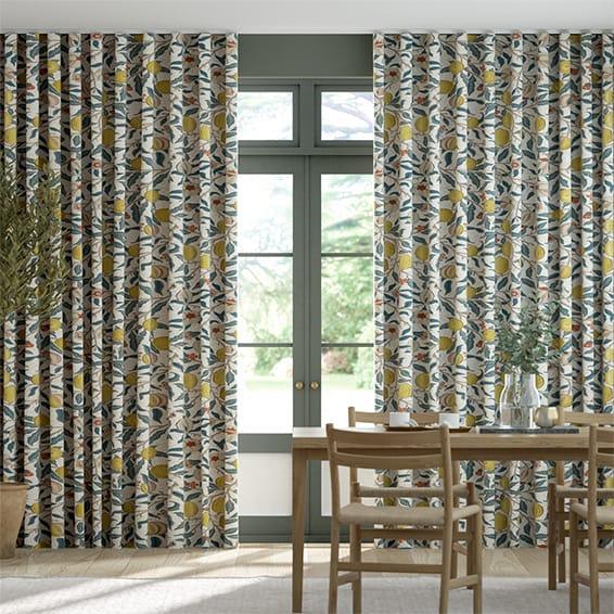 Wave William Morris Fruit Citrus Curtains