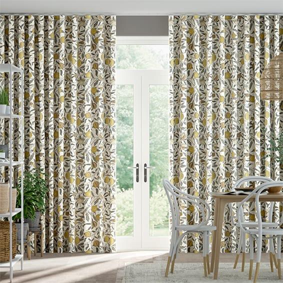 Wave William Morris Fruit Primrose Curtains