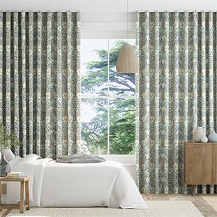 Wave William Morris Honeysuckle and Tulip Slate Wave Curtains thumbnail image