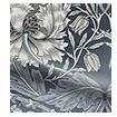 Wave William Morris Honeysuckle and Tulip Velvet Grey Blue Wave Curtains swatch image