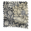 Wave William Morris Honeysuckle and Tulip Velvet Gunmetal Wave Curtains swatch image