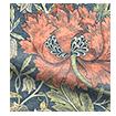 Wave William Morris Honeysuckle and Tulip Velvet Vermillion Wave Curtains swatch image