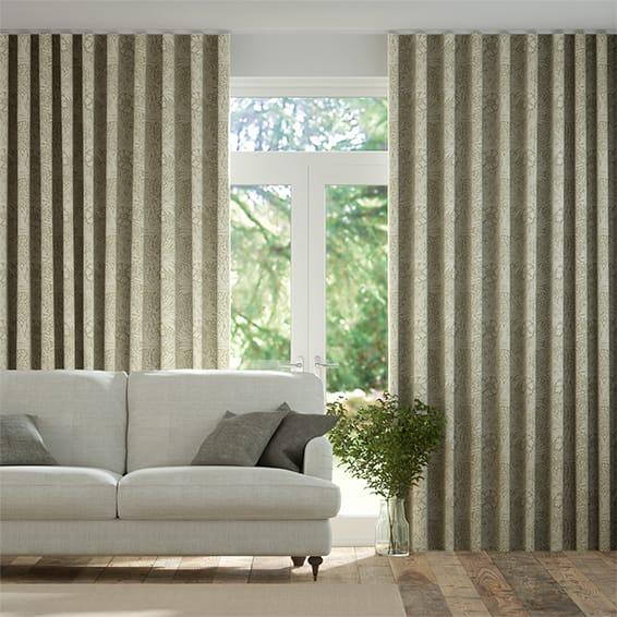 Wave William Morris Marigold Hemp Curtains