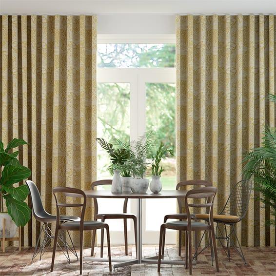Wave William Morris Marigold Mimosa Curtains