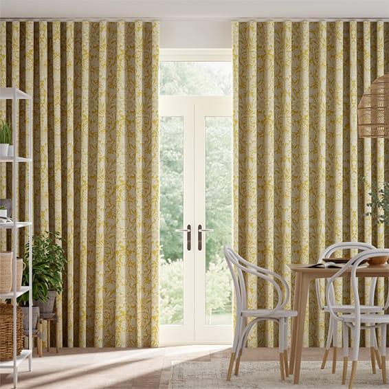 Wave William Morris Sunflower Honey Curtains