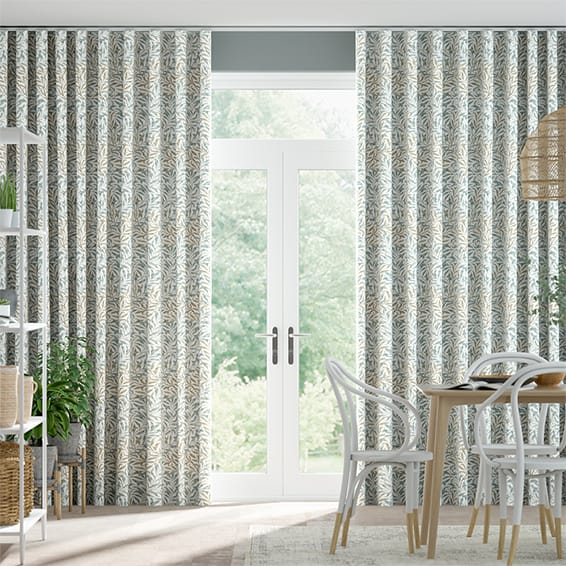 Wave William Morris Willow Bough Duck Egg Curtains