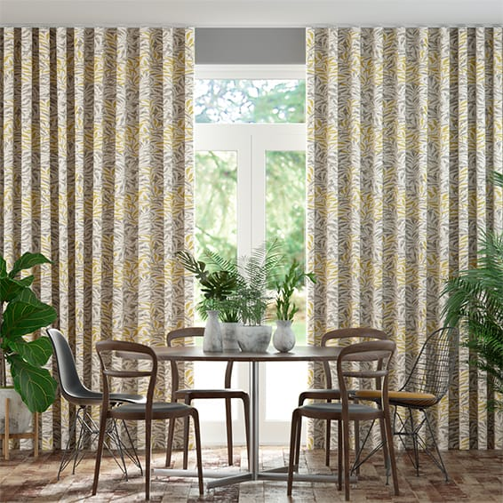 Wave William Morris Willow Bough Gold Curtains