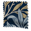 Wave William Morris Willow Bough Midnight Curtains sample image