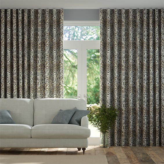 Wave William Morris Willow Bough Mocha Curtains