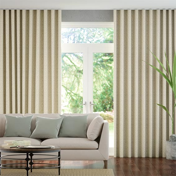 Wave Zoroa Pale Neutral Curtains