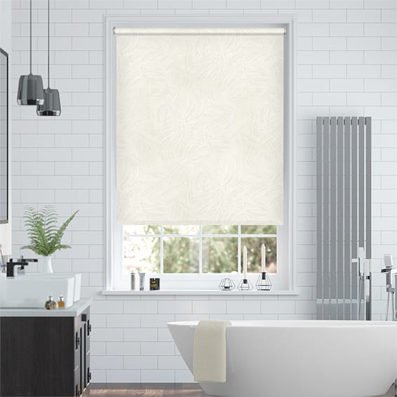 Waves Blackout Cream Roller Blind