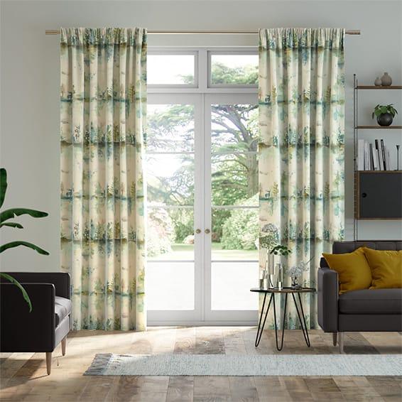 Wilderness Topaz Linen Curtains