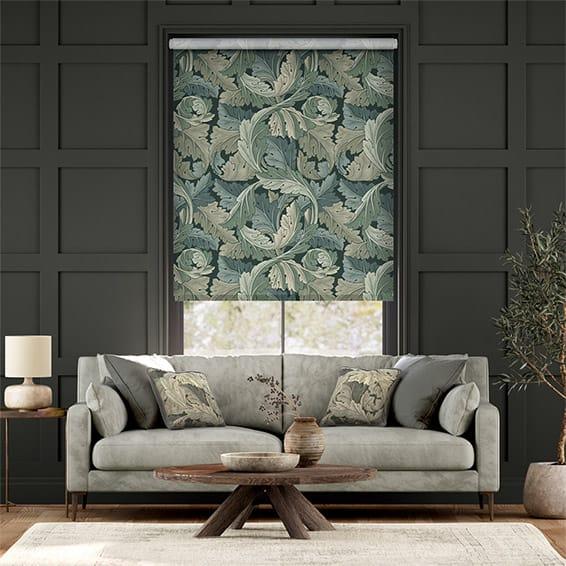 William Morris Acanthus Velvet Forest Roller Blind