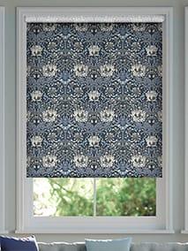 William Morris Honeysuckle and Tulip Velvet Grey Blue Roller Blind thumbnail image