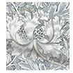 William Morris Honeysuckle and Tulip Velvet Pewter Curtains sample image