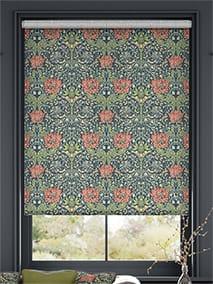William Morris Honeysuckle and Tulip Velvet Vermillion Roller Blind thumbnail image