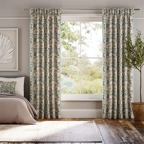 William Morris Pimpernel Blush Curtains