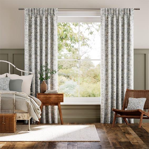 William Morris Pimpernel Dove Grey Curtains