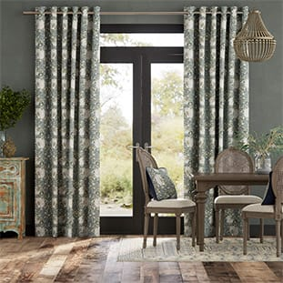 William Morris Pimpernel French Grey Curtains thumbnail image