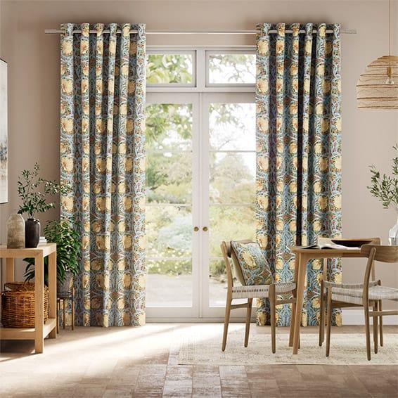 William Morris Pimpernel Honey Curtains
