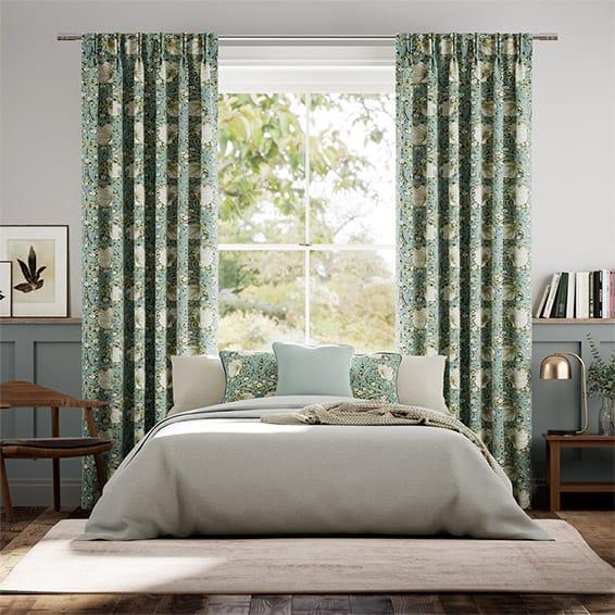 William Morris Pimpernel Sage Curtains
