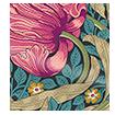 William Morris Pimpernel Teal Curtains sample image