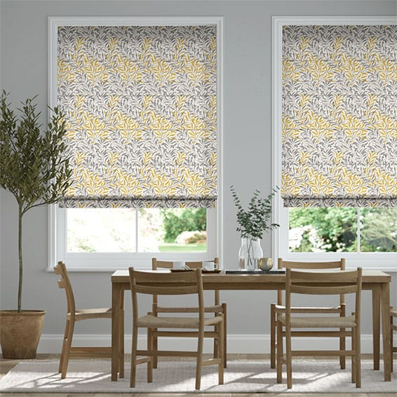 William Morris Willow Bough Gold Roman Blind