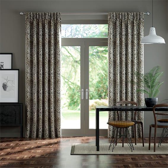 William Morris Willow Bough Mocha Curtains