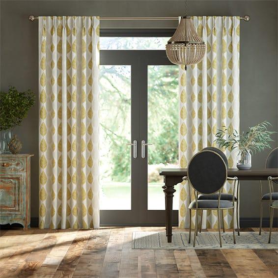 Winter Leaf Biscotti Curtains