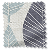 Winter Leaf Linen Gentle Blue swatch image