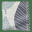 Winter Leaf Linen Gentle Blue Curtains slat image
