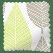 Winter Leaf Spring Green Roller Blind swatch image
