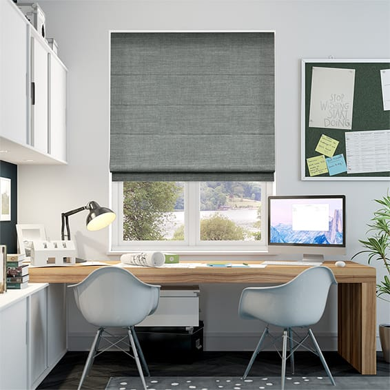 Witley Silver Roman Blind