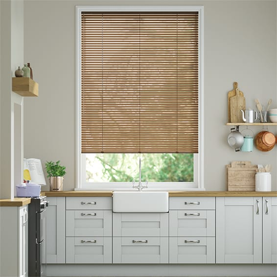 Woodgrain Antique Oak Venetian Blind - 25mm Slat